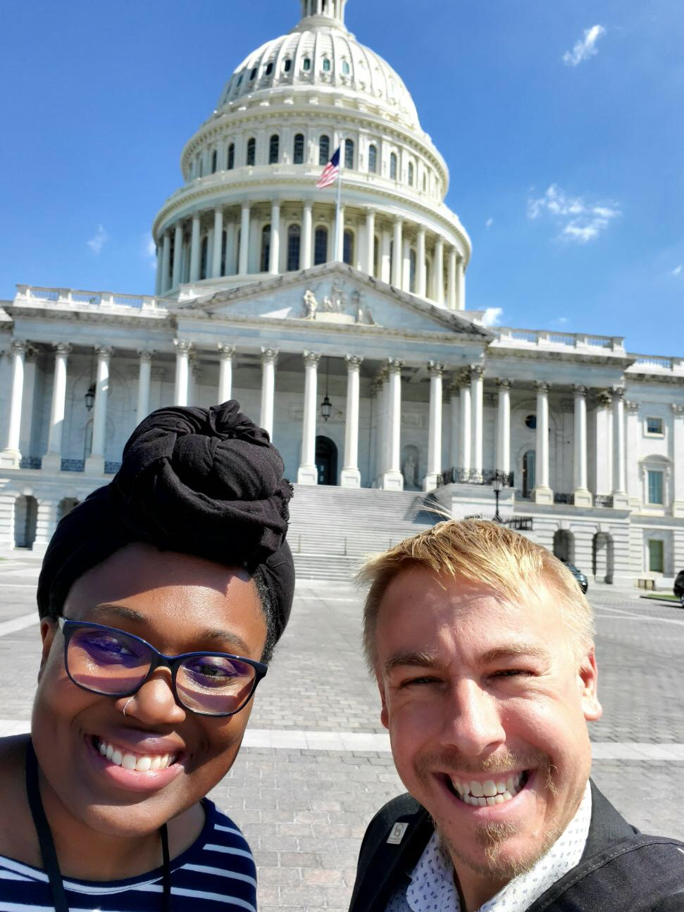 Ally and Zach in front of Capitol